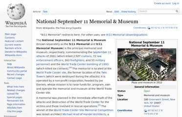 http://en.wikipedia.org/wiki/National_September_11_Memorial_%26_Museum