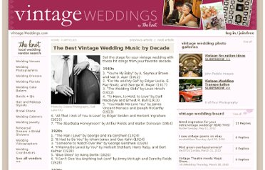 http://vintage.weddings.com/articles/vintage-music-by-decade.aspx