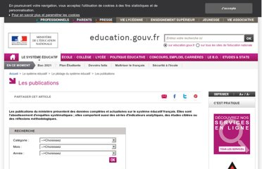 http://www.education.gouv.fr/pid25657/les-publications.html