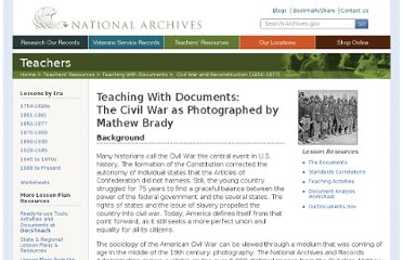 http://www.archives.gov/education/lessons/brady-photos/