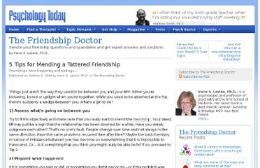 http://www.psychologytoday.com/blog/the-friendship-doctor/200910/5-tips-mending-tattered-friendship