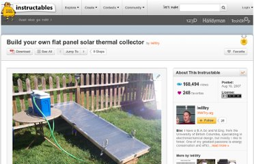 http://www.instructables.com/id/Build-your-own-flat-panel-solar-thermal-collector/