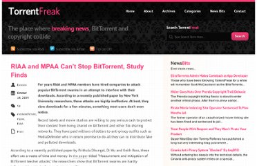 http://torrentfreak.com/riaa-and-mpaa-cant-stop-bittorrent-study-finds-091014/