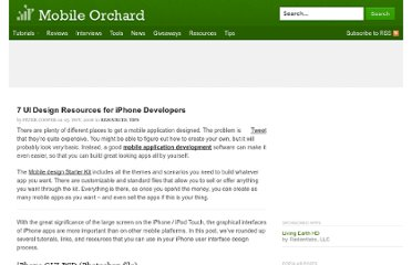 http://mobileorchard.com/7-iphone-ui-user-interface-design-resources/