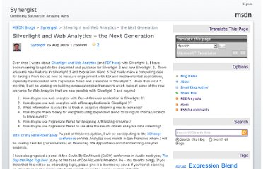 http://blogs.msdn.com/b/synergist/archive/2009/08/25/silverlight-and-web-analytics-the-next-generation.aspx