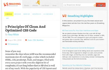 http://coding.smashingmagazine.com/2008/08/18/7-principles-of-clean-and-optimized-css-code/