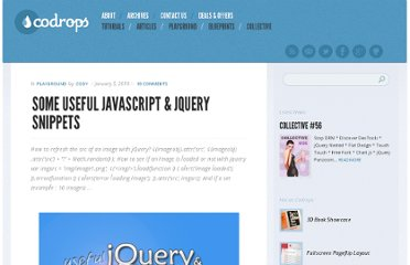 http://tympanus.net/codrops/2010/01/05/some-useful-javascript-jquery-snippets/