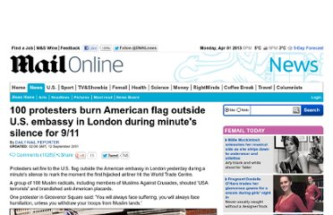 http://www.dailymail.co.uk/news/article-2036172/9-11-memorial-events-London-protesters-burn-American-flag-outside-US-embassy.html