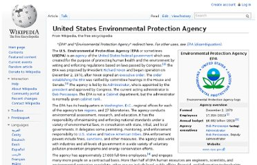 http://en.wikipedia.org/wiki/United_States_Environmental_Protection_Agency