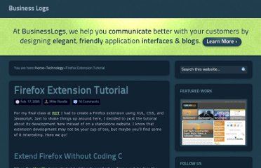 http://www.businesslogs.com/technology/firefox_extension_tutorial.php