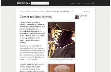 http://cathyhay.hubpages.com/hub/Corset-making-secrets