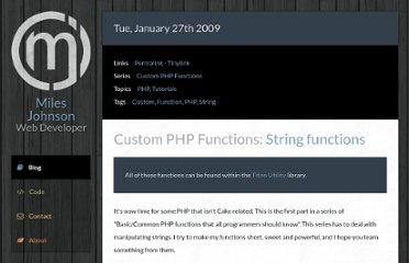 http://milesj.me/blog/read/15/5-custom-basic-php-string-functions