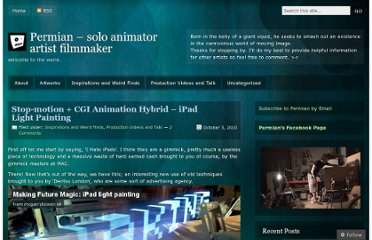 http://permianlacube.wordpress.com/2010/10/03/stop-motion-cgi-animation-hybrid-ipad-light-painting/