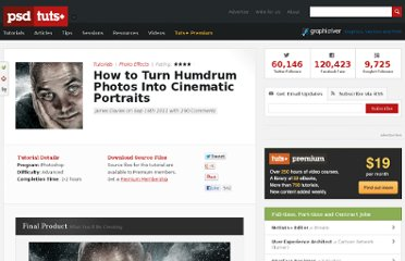 http://psd.tutsplus.com/tutorials/photo-effects-tutorials/turn-humdrum-photos-into-cinematic-portraits/