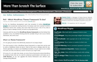 http://scratch99.com/wordpress/development/poll-wordpress-theme-frameworks/