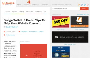 http://uxdesign.smashingmagazine.com/2009/04/06/design-to-sell-12-tips-to-help-your-website-convert/