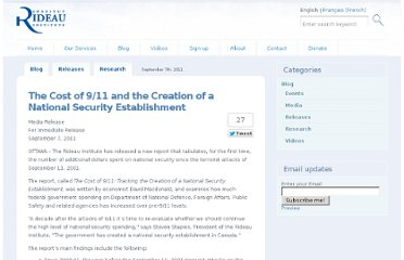 http://www.rideauinstitute.ca/2011/09/07/the-cost-of-911-and-the-creation-of-a-national-security-establishment/