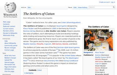http://en.wikipedia.org/wiki/The_Settlers_of_Catan