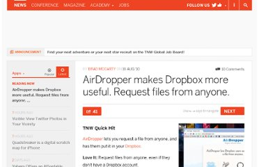 http://thenextweb.com/apps/2010/08/16/airdropper-makes-dropbox-more-useful-request-files-from-anyone/