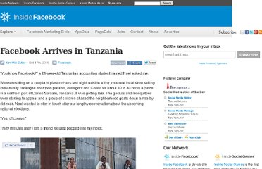 http://www.insidefacebook.com/2010/10/17/facebook-arrives-in-tanzania/