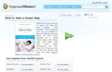 http://www.organizedwisdom.com/Slideshow:How_to_Take_a_Nap