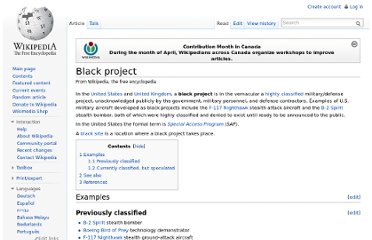 http://en.wikipedia.org/wiki/Black_project