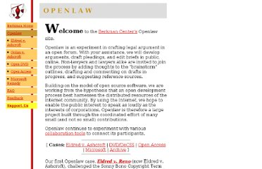 http://cyber.law.harvard.edu/openlaw/
