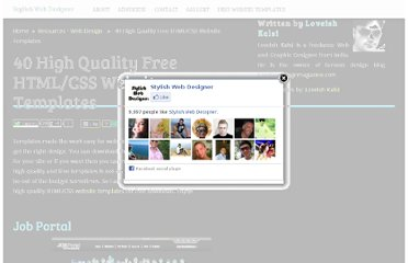 http://stylishwebdesigner.com/high-quality-free-htmlcss-website-templates/
