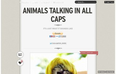 http://animalstalkinginallcaps.tumblr.com/