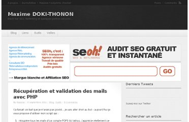 http://www.maximedt.com/blog/validation-de-mails-avec-php.html