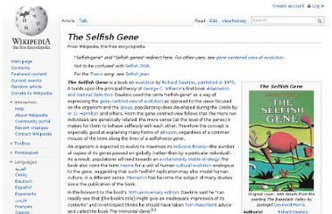 http://en.wikipedia.org/wiki/The_Selfish_Gene