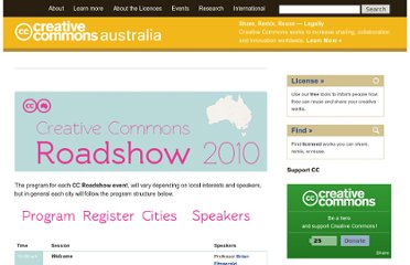http://creativecommons.org.au/events/cc-roadshow-2010/program