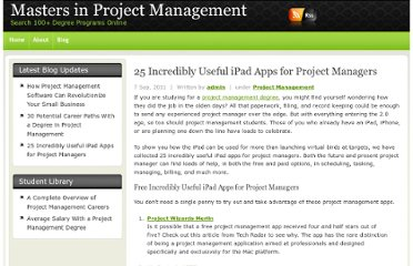 http://mastersinprojectmanagement.com/25-incredibly-useful-ipad-apps-for-project-managers/
