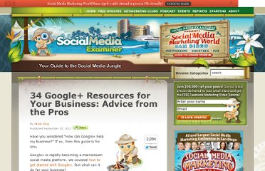 http://www.socialmediaexaminer.com/34-google-resources-for-your-business-advice-from-the-pros/