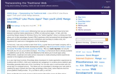 http://blogs.msdn.com/b/seesharp/archive/2011/09/12/like-html5-like-phone-apps-then-you-ll-love-mango-because.aspx