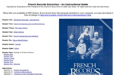 http://familyhistory.byu.edu/Downloads/French_Extraction_Guide/Default.htm