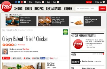 http://www.foodnetwork.com/recipes/cat-cora/crispy-baked-fried-chicken-recipe/index.html