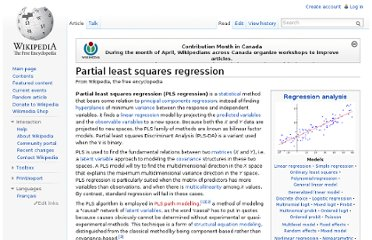 http://en.wikipedia.org/wiki/Partial_least_squares_regression