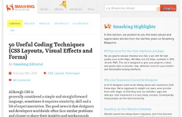 http://coding.smashingmagazine.com/2010/02/18/50-css-and-javascript-techniques-for-layouts-forms-and-visual-effects/
