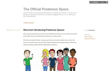 http://blog.posterous.com/introducing-posterous-spaces-the-easiest-way