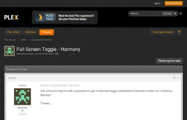 http://forums.plexapp.com/index.php/topic/11695-full-screen-toggle-harmony/