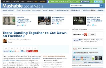 http://mashable.com/2009/12/21/teens-cutting-down-on-facebook/