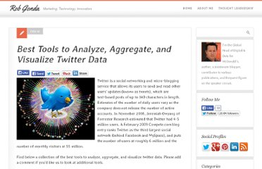 http://www.robgonda.com/2009/02/18/best-tools-to-analyze-aggregate-and-visualize-twitter-data/
