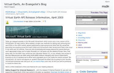 http://blogs.msdn.com/b/virtualearth/archive/2009/04/09/virtual-earth-api-release-information-april-2009.aspx