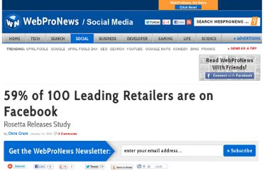 http://www.webpronews.com/59-of-100-leading-retailers-are-on-facebook-2009-01