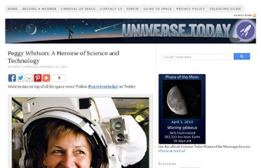 http://www.universetoday.com/60656/peggy-whitson-a-heroine-of-science-and-technology/