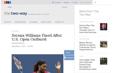 http://www.npr.org/blogs/thetwo-way/2011/09/12/140407787/serena-williams-fined-after-us-open-outburst