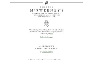 http://www.mcsweeneys.net/articles/nietzsches-angel-food-cake