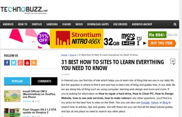 http://www.technobuzz.net/31-how-to-sites/
