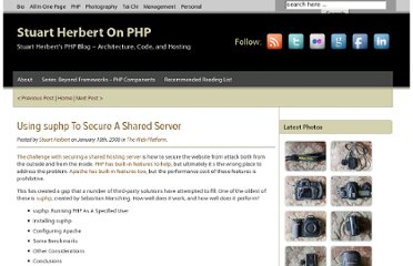 http://blog.stuartherbert.com/php/2008/01/18/using-suphp-to-secure-a-shared-server/